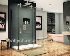 smooth gliding sliding glass shower door fitting on China WDMA