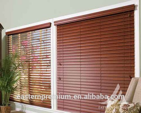 solid wooden venetian window timber louvre blinds shade
