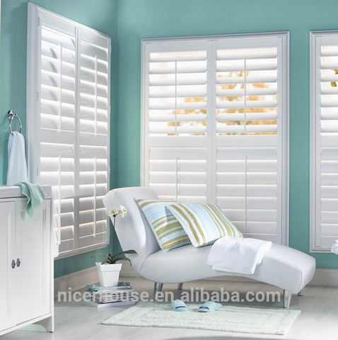 sound proof glass window pvc hurricane plantation shutters shuttered windows on China WDMA
