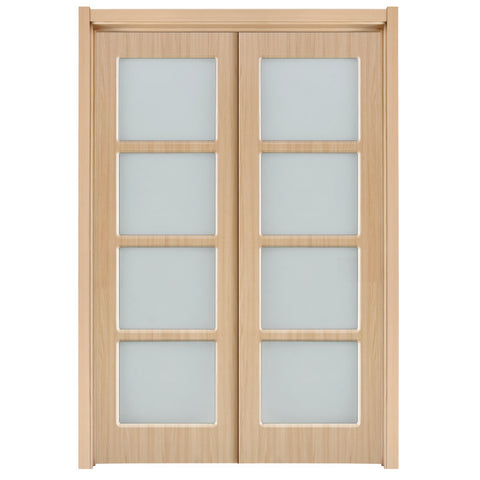 soundproof interior sliding barn doors translucent glass bedroom sliding door on China WDMA
