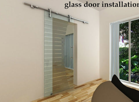 stainless steel 304 double exterior frameless glass sliding door roller track systems on China WDMA