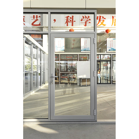 standard commercial double glass french casement door Aluminum alloy frame Hinged doors for Bathroom Toilet on China WDMA