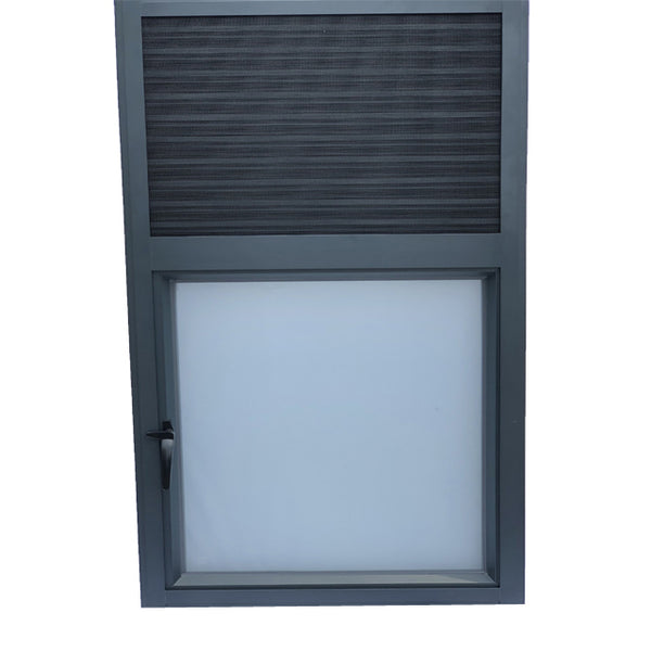 standard size jalousie aluminium double glass casement window on China WDMA