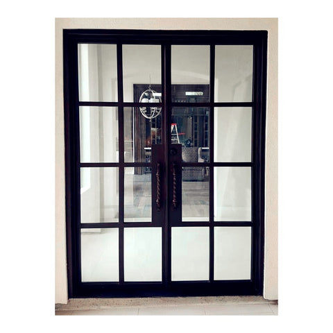 steel four panels home hotel interior exterior apartment steel bifold to french 28 inch door lowes top hung on China WDMA