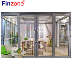 super smooth light insulation thermal break thermal bridge aluminum profile interior front sliding glass door double glazing on China WDMA