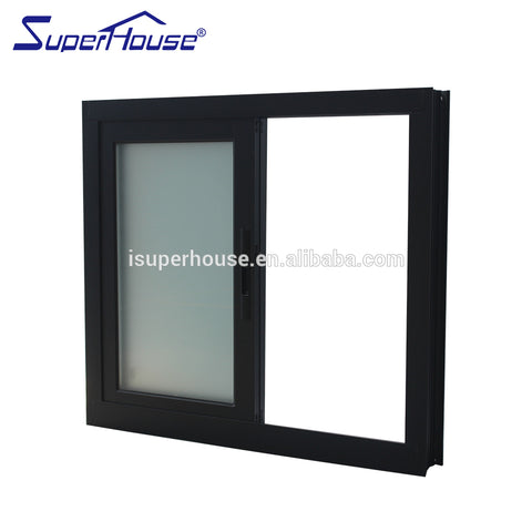 superhouse australia AS2047 standard horizontal open style sliding window upvc windows on China WDMA