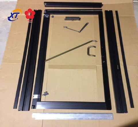 taoyuan Tempered Glass Sliding Door/Aluminium Frame tempered glass interior Door with Grill Design on China WDMA