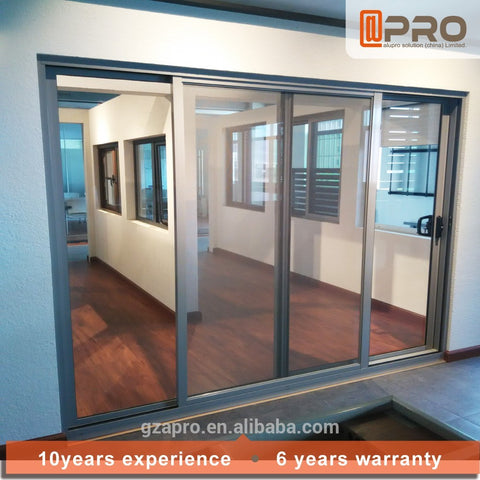 telescoping sliding mirror closet doors triple track aluminum powder sliding door on China WDMA