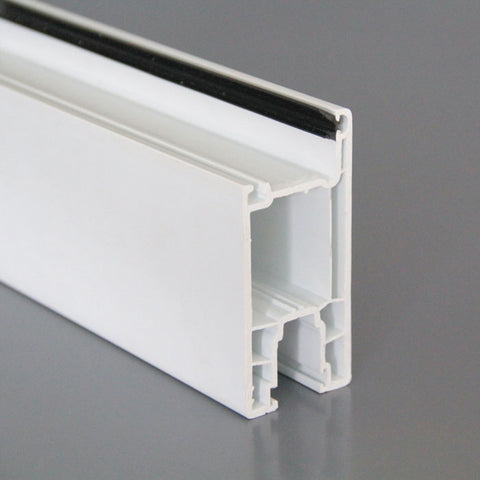 tempered glass pvc window profile 70 mm series casement swing french plastic pvc door frame on China WDMA