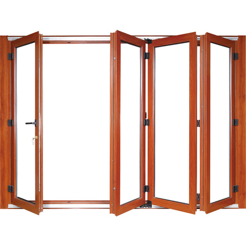 thermal break profiles aluminium folding doors double tempered glazing bifold door on China WDMA on China WDMA