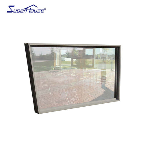 thermal break windows miami dade hurricane proof aluminium tempered glass window on China WDMA