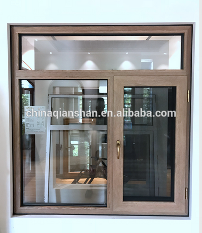 thermal broken frame aluminium casement window with insect screen on China WDMA