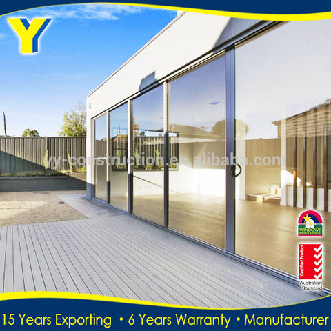 three panel sliding glass door / inward opening folding door / bi fold doors on China WDMA