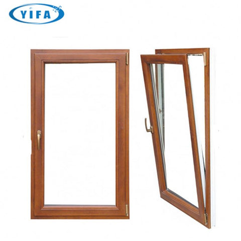 tilt turn window with louvre design /aluminum windows with electric shutter on China WDMA