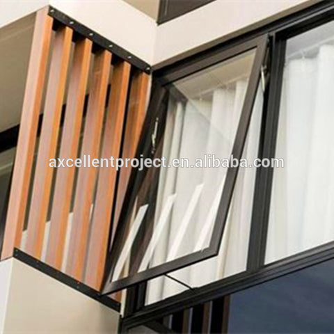 top hung aluminium windows design windows hinged on top aluminium awning window with fly screen on China WDMA