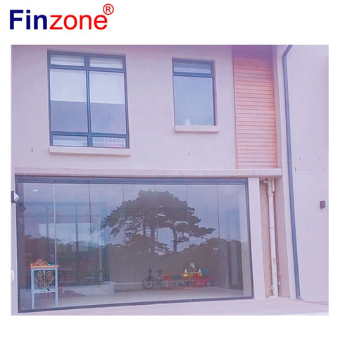 transparent frameless aluminium sliding folding stacking balcony glass partitions doors on China WDMA