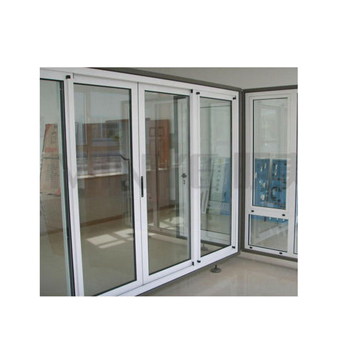 triple tracks sliding interior glass door partition wall aluminum door on China WDMA