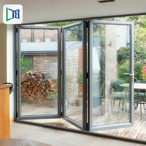 uk folding aluminium bifold patio doors and windows decorative patio french bifold folding aluminium glass door on China WDMA