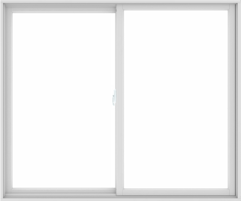 WDMA 72X60 (71.5 x 59.5 inch) White uPVC/Vinyl Sliding Window without Grids Interior