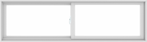 WDMA 84X24 (83.5 x 23.5 inch) White uPVC/Vinyl Sliding Window without Grids Interior