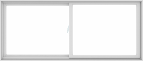 WDMA 84X36 (83.5 x 35.5 inch) White uPVC/Vinyl Sliding Window without Grids Interior