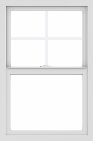 WDMA 24x36 (23.5 x 35.5 inch) White aluminum Single and Double Hung Window with Top Colonial Grids