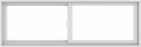 WDMA 72X24 (71.5 x 23.5 inch) White uPVC/Vinyl Sliding Window without Grids Interior