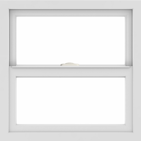 WDMA 24x24 (23.5 x 23.5 inch) White Aluminum Single and Double Hung Window without grids interior