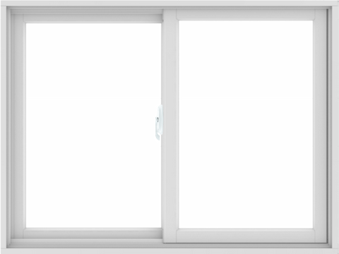 WDMA 48X36 (47.5 x 35.5 inch) White uPVC/Vinyl Sliding Window without Grids Interior