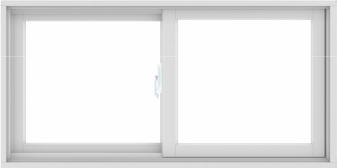 WDMA 48X24 (47.5 x 23.5 inch) White uPVC/Vinyl Sliding Window without Grids Interior
