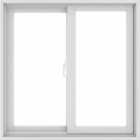 WDMA 34x34 (33.5 x 33.5 inch) White uPVC/Vinyl Sliding Window without Grids Interior