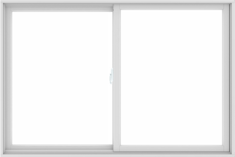 WDMA 72X48 (71.5 x 47.5 inch) White uPVC/Vinyl Sliding Window without Grids Interior