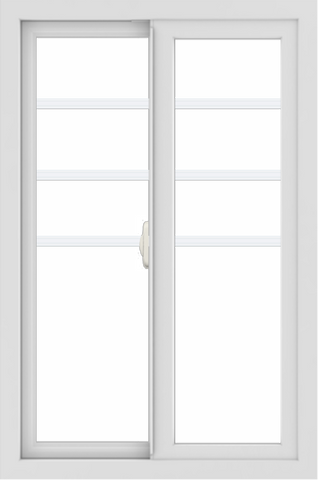 WDMA 24x36 (23.5 x 35.5 inch) White aluminum Slide Window with Top Colonial Grids