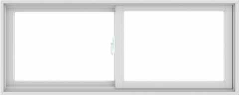 WDMA 60X24 (59.5 x 23.5 inch) White uPVC/Vinyl Sliding Window without Grids Interior