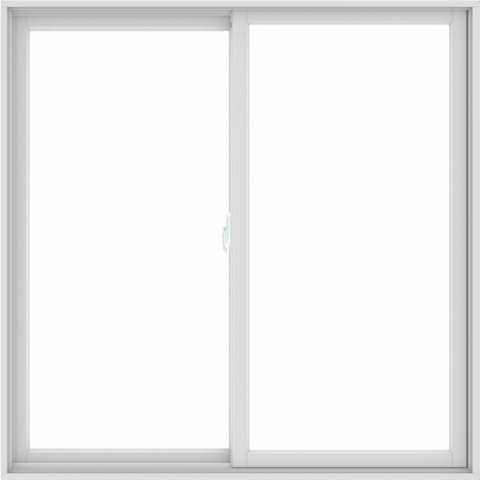WDMA 60X60 (59.5 x 59.5 inch) White uPVC/Vinyl Sliding Window without Grids Interior
