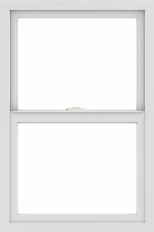WDMA 24x36 (24.5 x 36.5 inch) White uPVC/Vinyl Single and Double Hung Window without grids interior