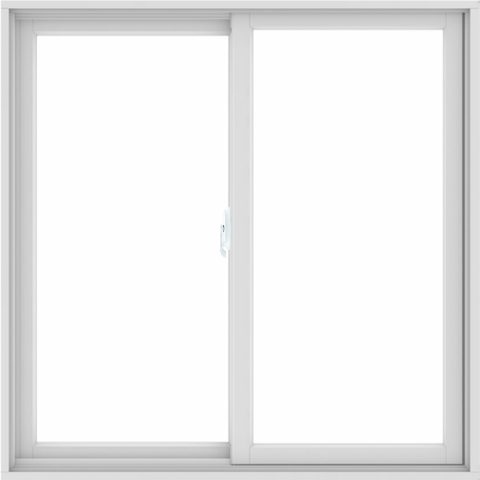 WDMA 48X48 (47.5 x 47.5 inch) White uPVC/Vinyl Sliding Window without Grids Interior