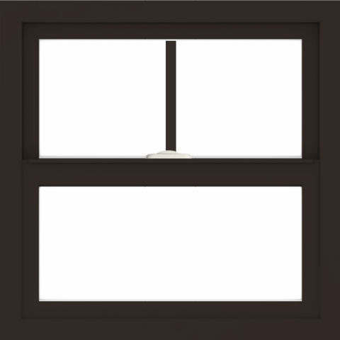WDMA 24x24 (23.5 x 23.5 inch) Dark Bronze Aluminum Single and Double Hung Window with Top Colonial Grids