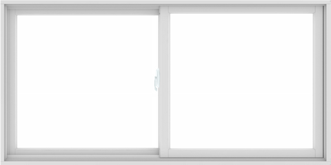 WDMA 72X36 (71.5 x 35.5 inch) White uPVC/Vinyl Sliding Window without Grids Interior