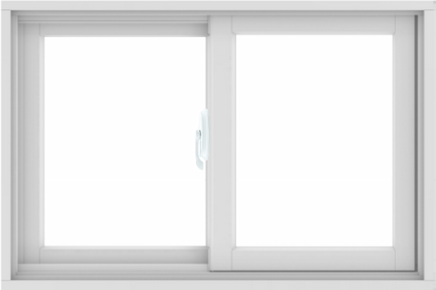 WDMA 36X24 (35.5 x 23.5 inch) White uPVC/Vinyl Sliding Window without Grids Interior
