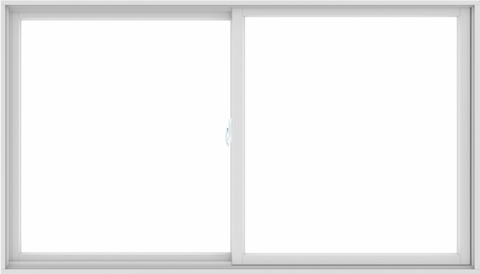 WDMA 84X48 (83.5 x 47.5 inch) White uPVC/Vinyl Sliding Window without Grids Interior