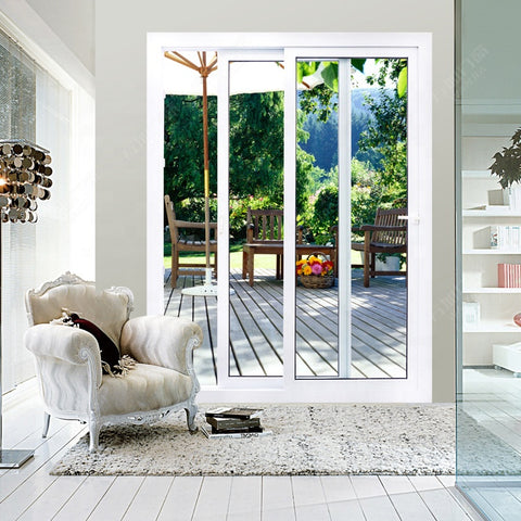 upvc glass sliding doors window design for living room on China WDMA