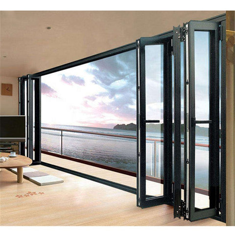 vertical roller shutter triple pane large decorative 10 foot bi fold plantation 3 louver bifold door top hung on China WDMA