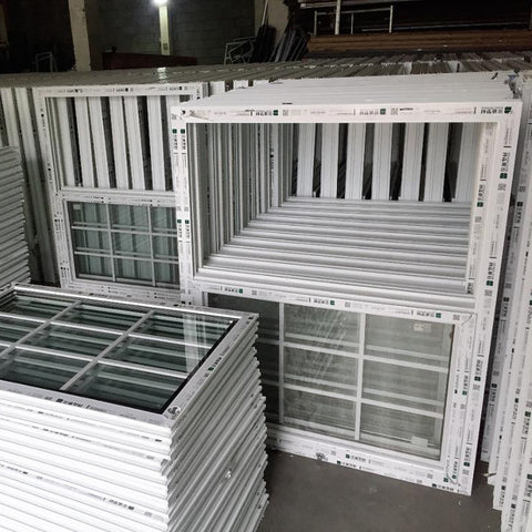 vertical sliding UPVC grill windows design on China WDMA