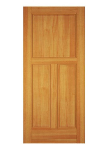 WDMA 12x80 Door (1ft by 6ft8in) Exterior Swing Cherry Wood 3 Panel Colonial Single Door 1