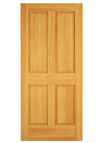 WDMA 12x80 Door (1ft by 6ft8in) Exterior Swing Knotty Pine Wood 4 Panel Colonial Single Door 1