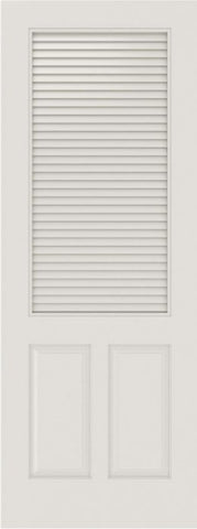 WDMA 12x80 Door (1ft by 6ft8in) Interior Barn Smooth SL-3190-LVR-PNL MDF 3 Panel Vented Louver Single Door 1
