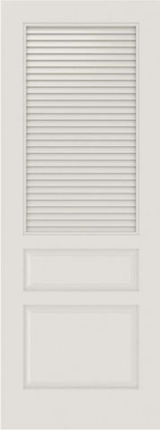 WDMA 12x80 Door (1ft by 6ft8in) Interior Barn Smooth SL-3010-LVR-PNL MDF 3 Panel Vented Louver Single Door 1