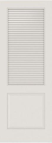WDMA 12x80 Door (1ft by 6ft8in) Interior Swing Smooth SL-2010-LVR-PNL MDF 2 Panel Vented Louver Single Door 1