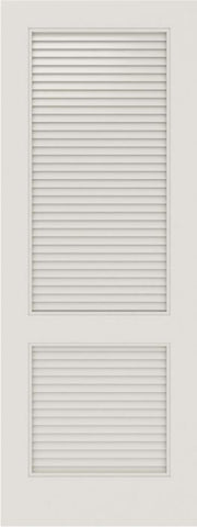 WDMA 12x80 Door (1ft by 6ft8in) Interior Barn Smooth SL-2010-LVRL MDF 2 Panel Vented Louver Single Door 1